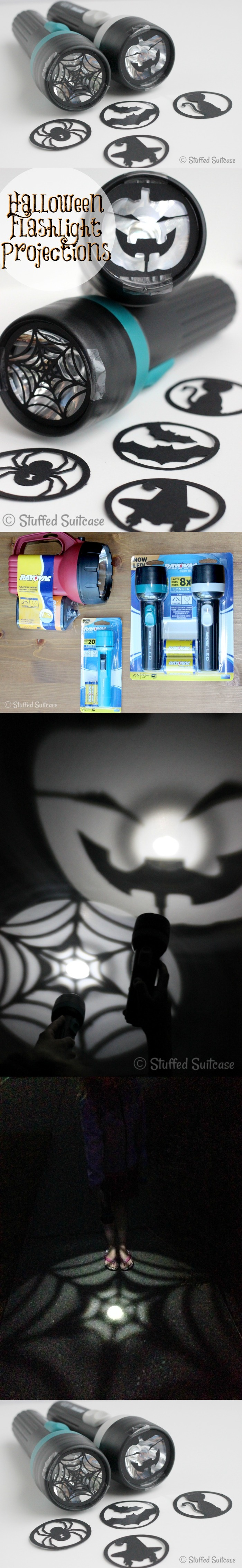 6. Halloween Flashlight Projection Craft