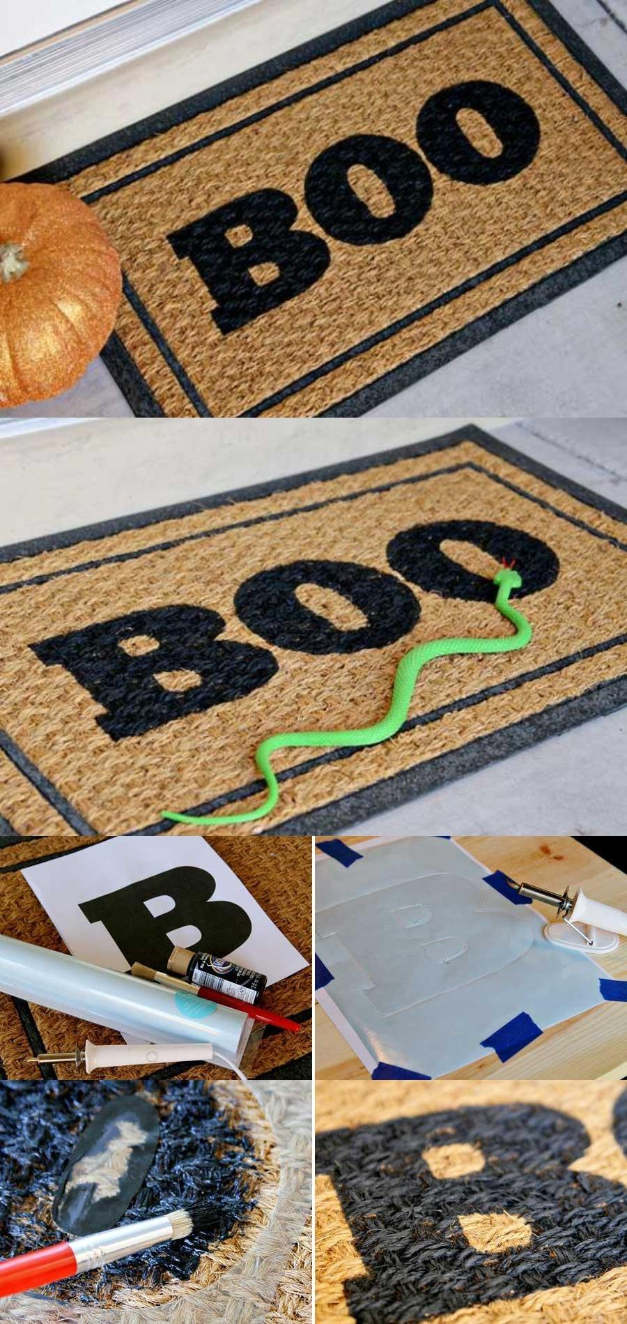 8. Doormat Halloween Decoration Craft