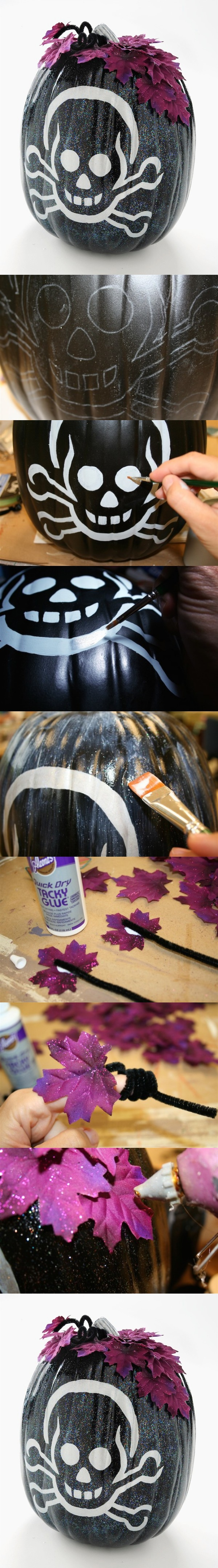 8. Sparkle Up A Skeleton Pumpkin