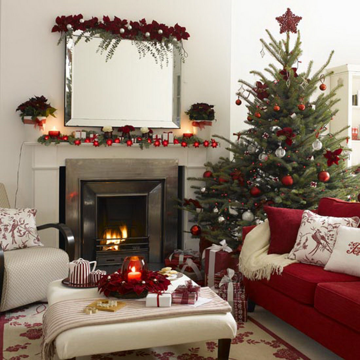 Christmas decoration ideas for a small house - Apartment Christmas Decorations