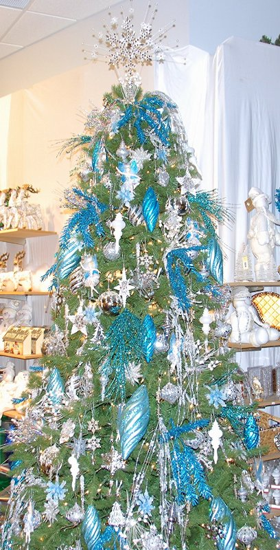 Teal Christmas Tree Decorations