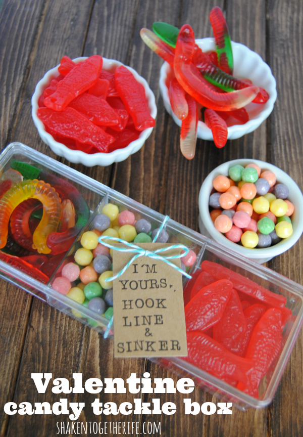 DIY Valentine Candy Tackle Box