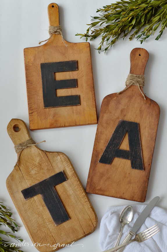 DIY Eat Cutting Board Wall Art