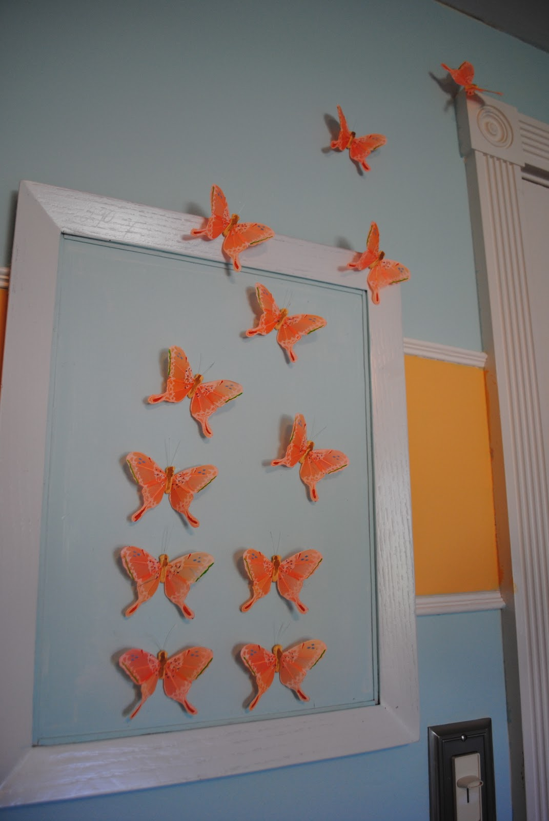 DIY Feather Butterfly Wall Art