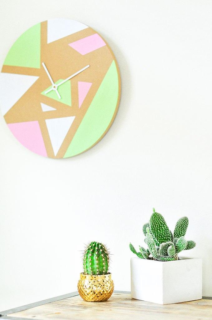 DIY Geometric Wall Clock