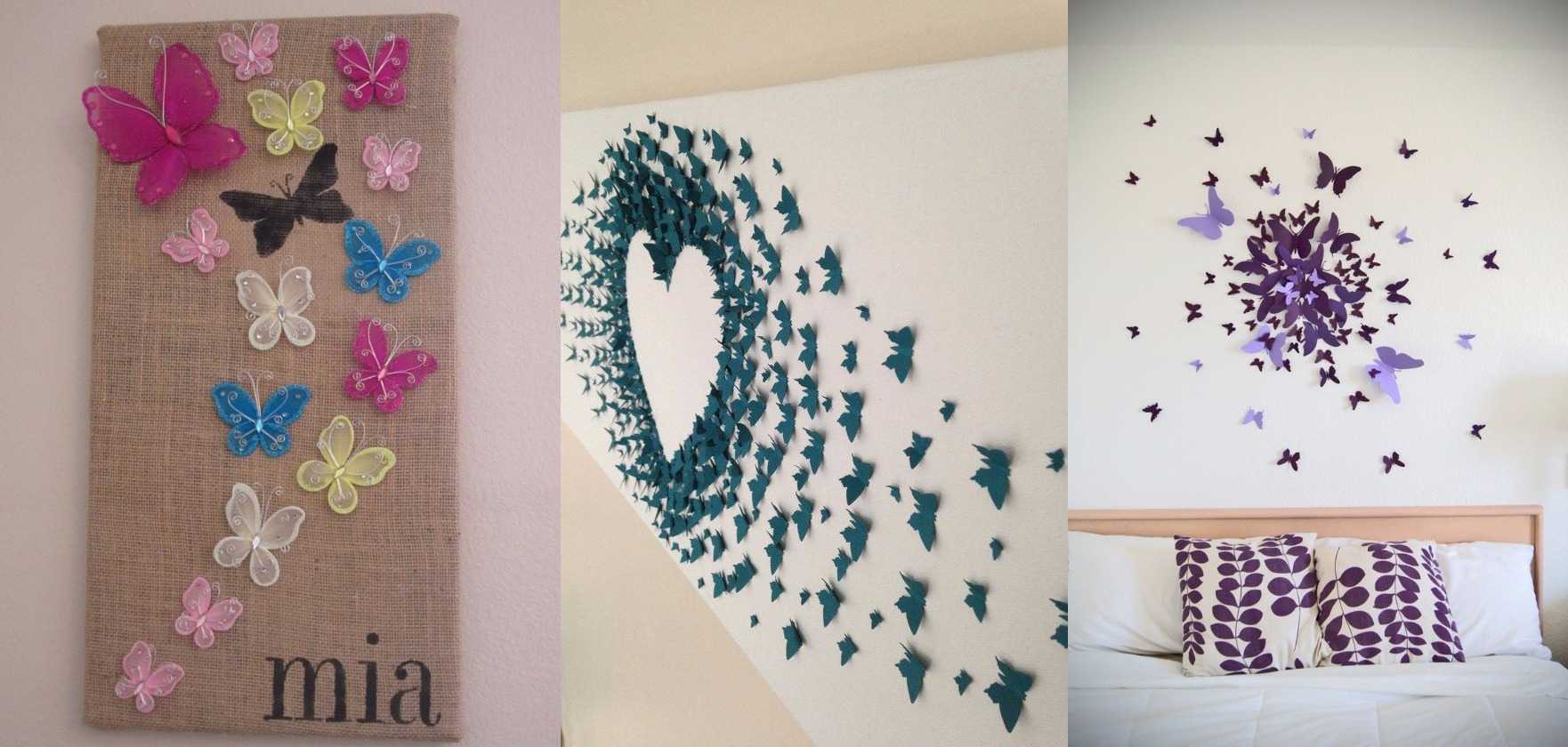 10 diy butterfly wall decor ideas with directions a diy for Home design ideas handmade