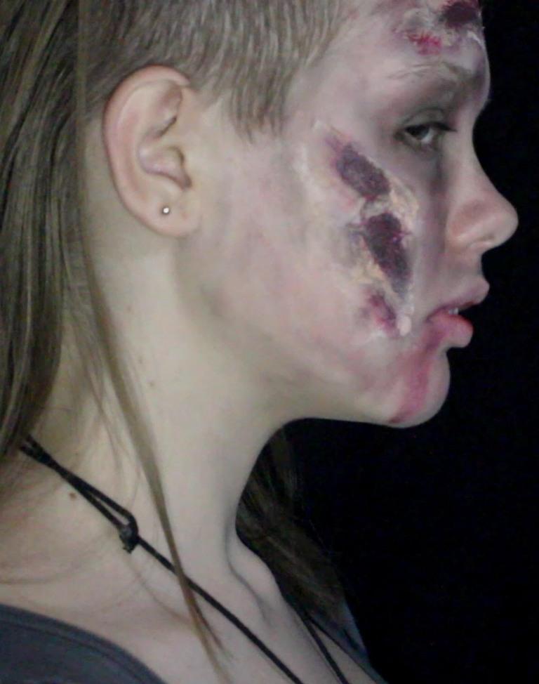 Half Zombie Halloween Makeup