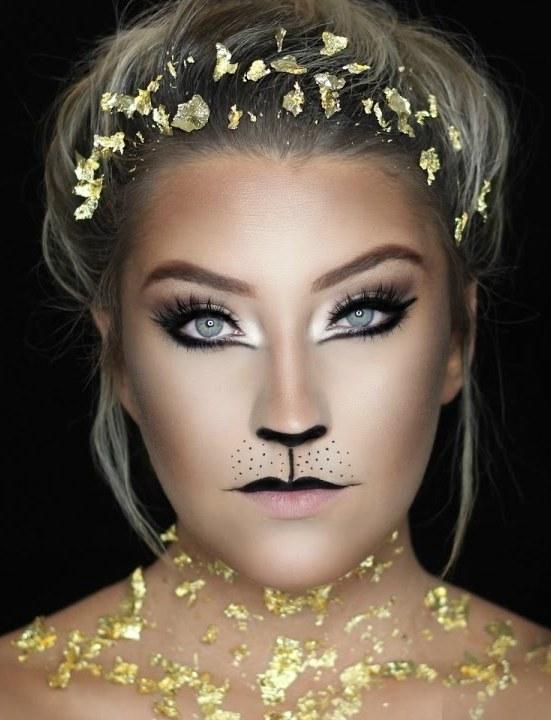 Gold Lion Halloween Makeup