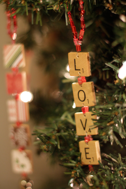 Scrabble Christmas Ornaments