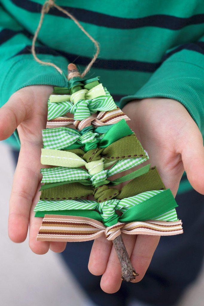 Scrap Ribbon Ornaments