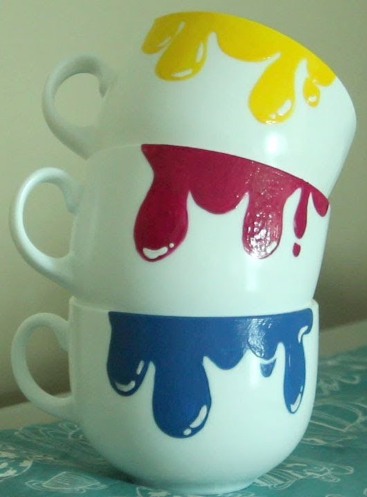 Dripping Paint Mugs