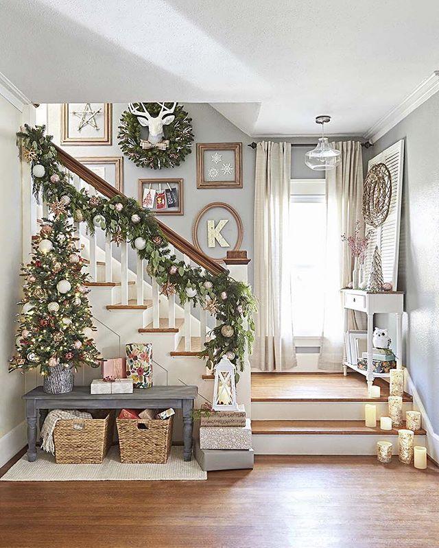 Scandinavian Christmas Stairs