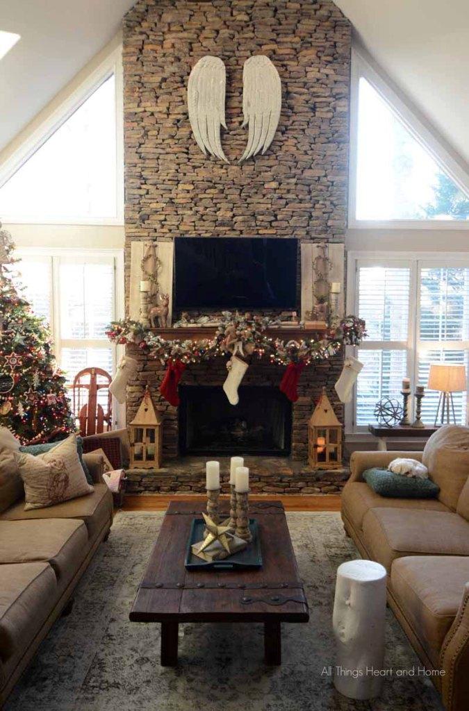 Rustic Fireplace Decoration
