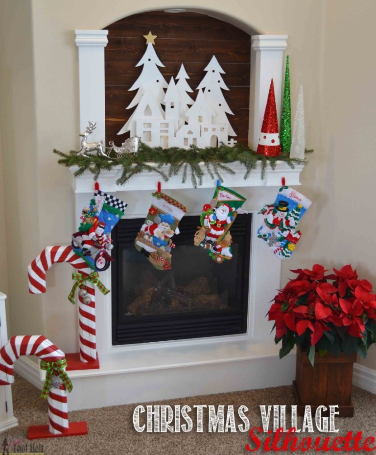 25 christmas village silhouette a diy projects christmas village decorations 30 beautiful diy ideas solutioingenieria