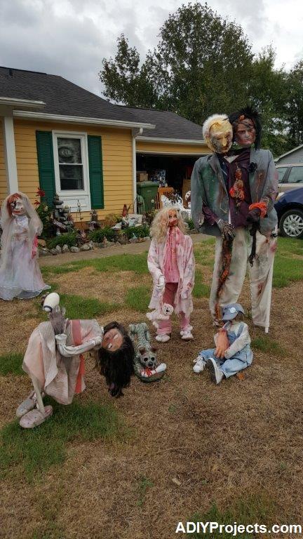 Outdoor Zombies Halloween Decorations