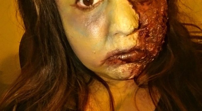 Zombie Burn Halloween Makeup Tutorial