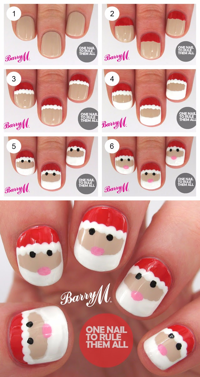 24 Diy Christmas Nail Art These Will Make You Feel Wow