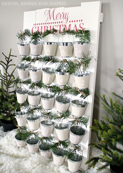 Mini Bucket Advent Calendar