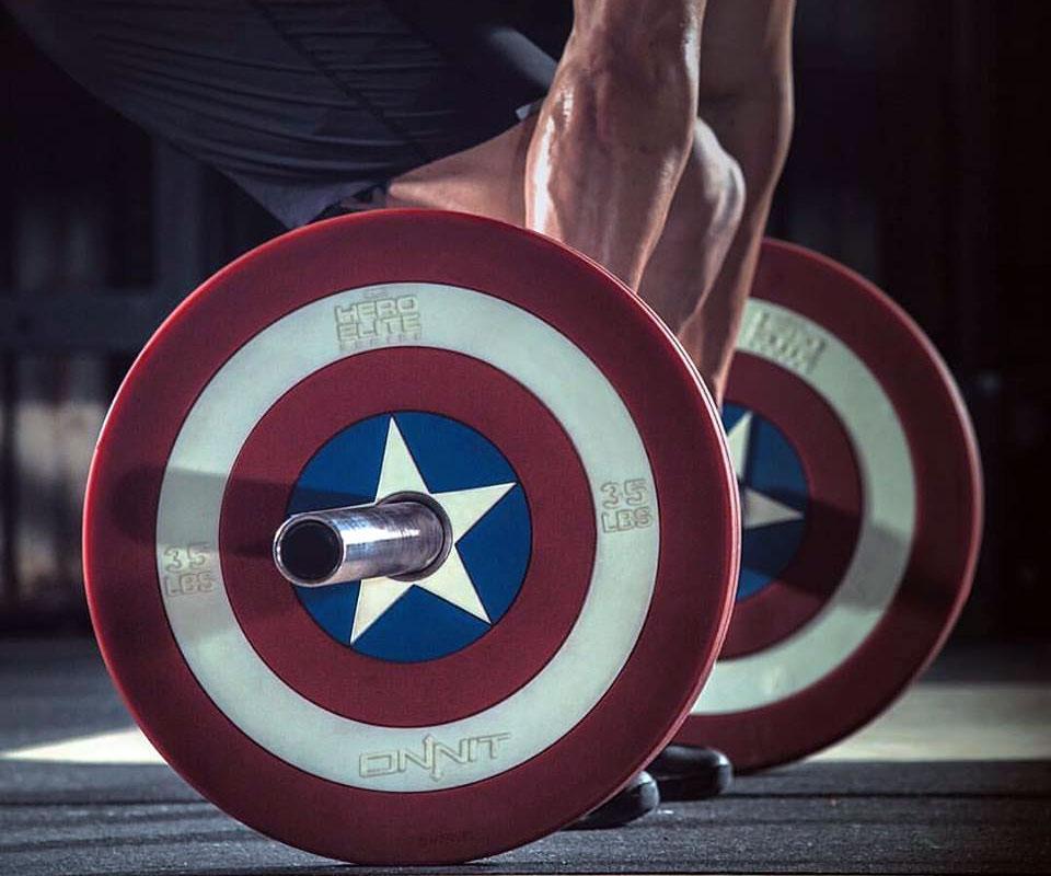Captain America Shield Barbell Plates