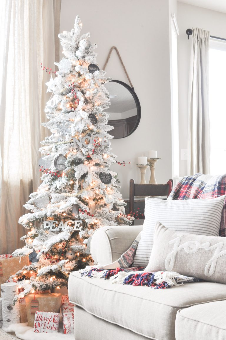 Neutral Christmas Living Room