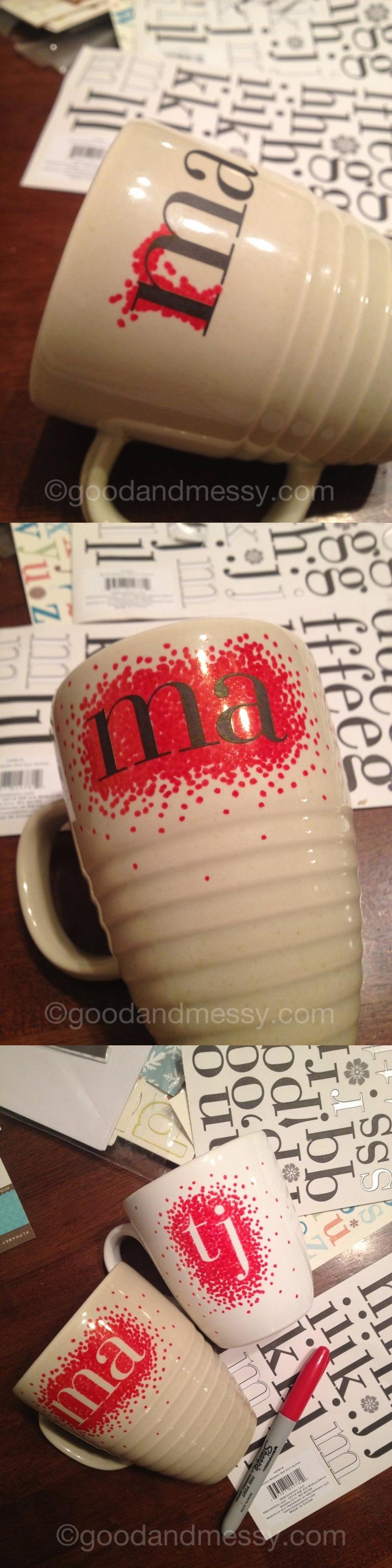 DIY Monogrammed Sharpie Mug
