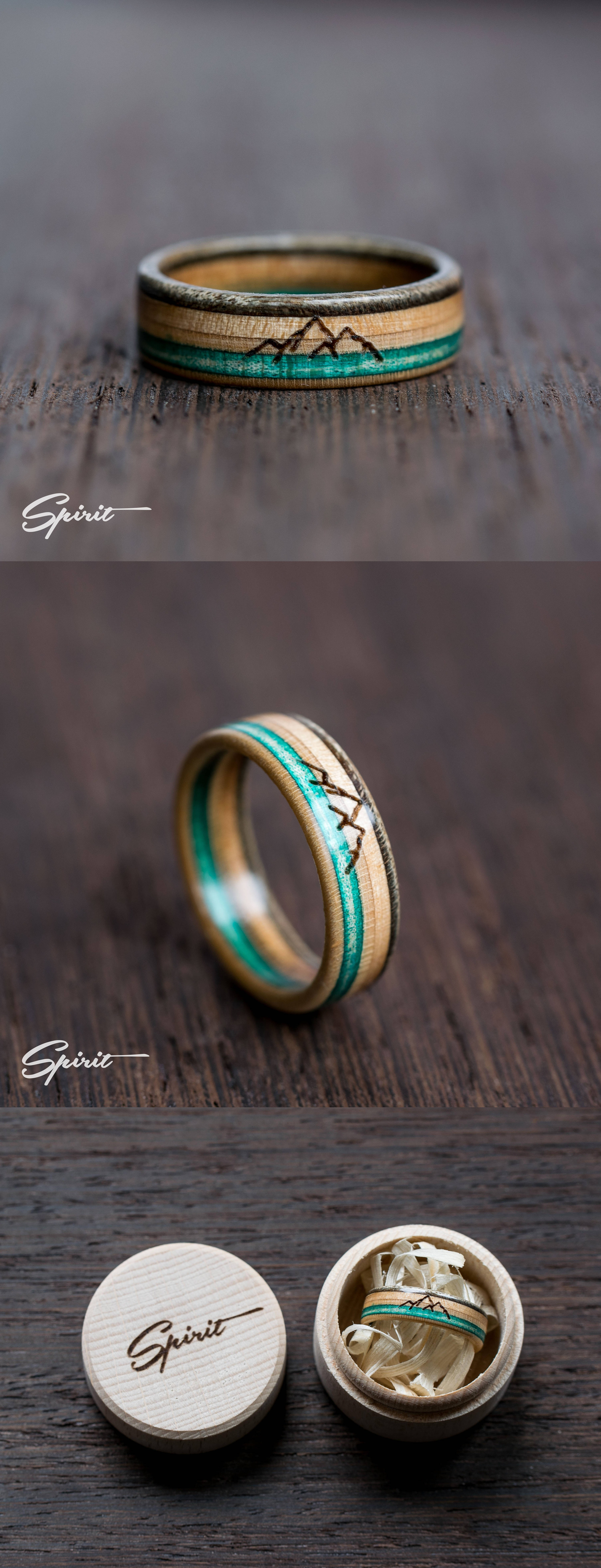 Mountain Lover Wooden Ring