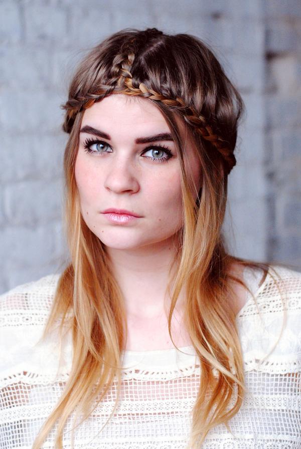 Braided Headpiece Layered Hairstyle