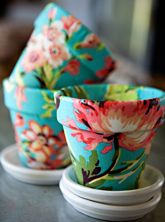 Painted Fabric Pot