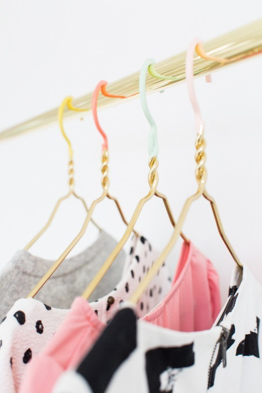 DIY Colored Dipped Hangers