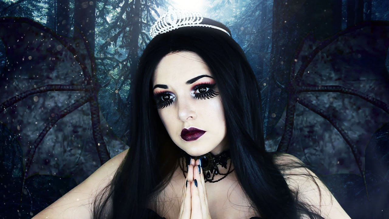 Dark Fallen Angel Halloween Makeup