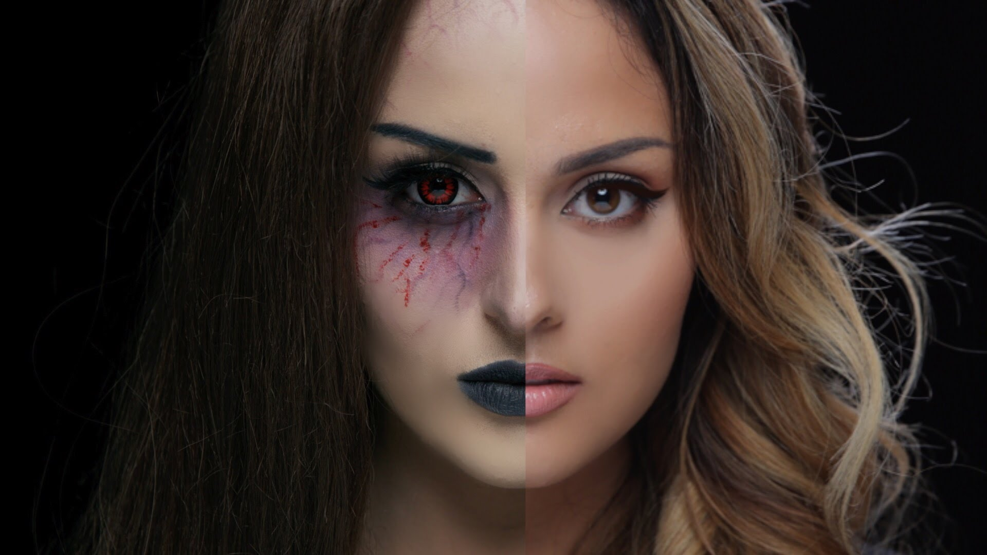 Half Face Halloween Makeup Ideas Everyone Love to Try