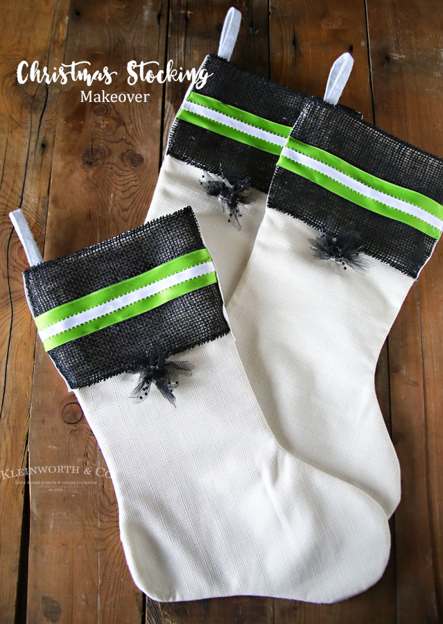 Black, White & Green Stockings