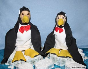 Penguins Halloween Costume For Dogs With Tutorial