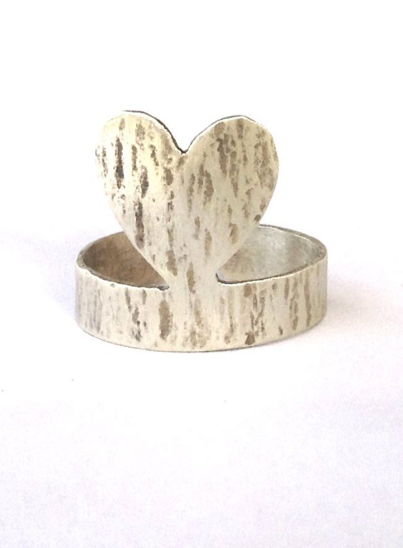 Silver Heart Ring Love Gift