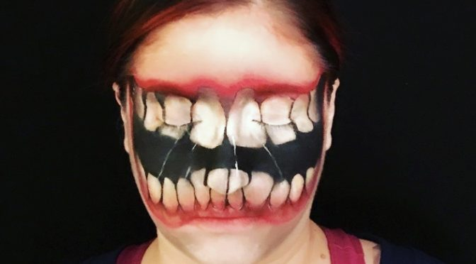 Big Mouth Halloween Makeup for Awesome Halloween Look