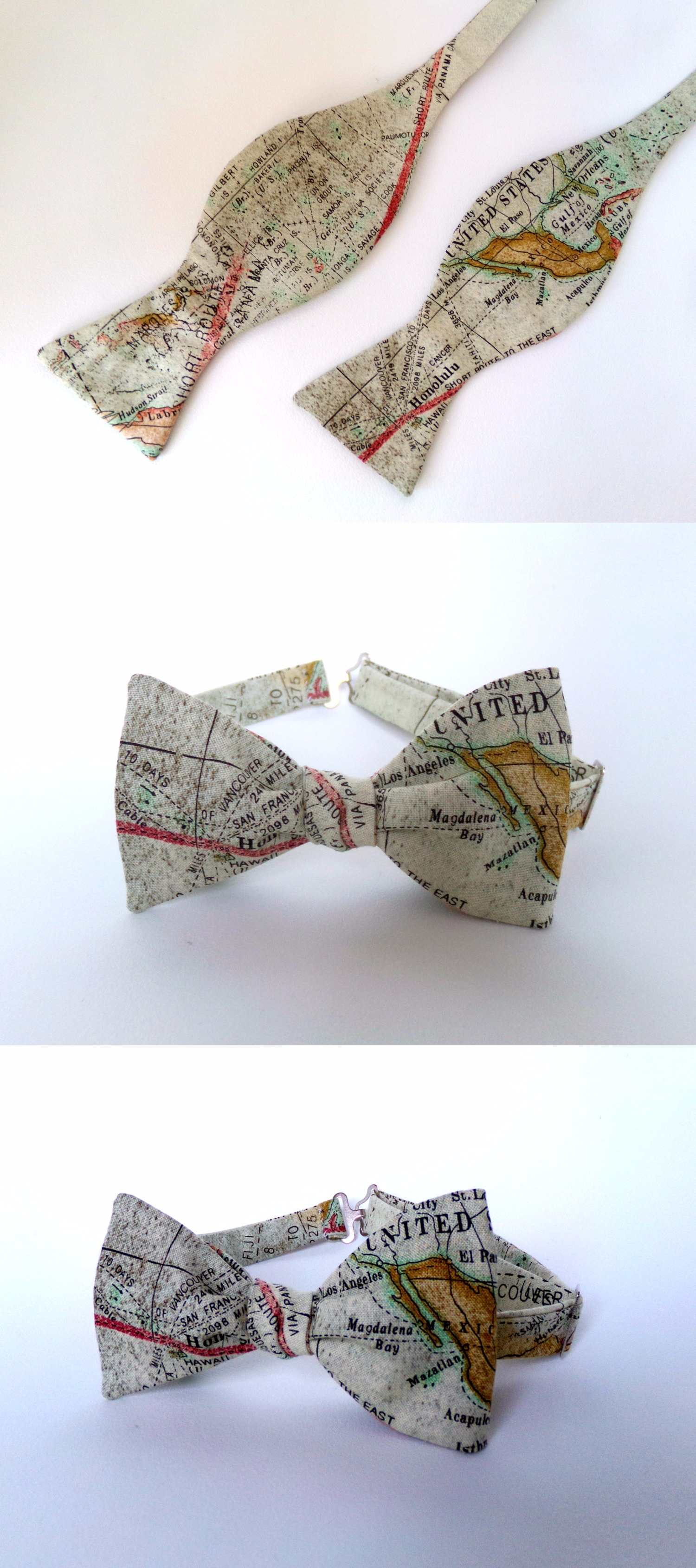 World Map Bow Tie